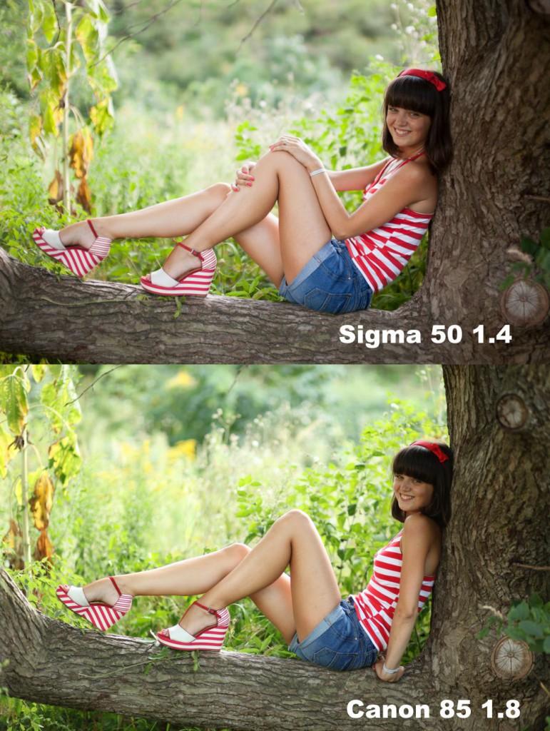 sigma 50 1.4 vs canon 85 1.8