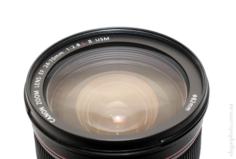 фото передней линзы объектива canon 24-70 f2.8l ii