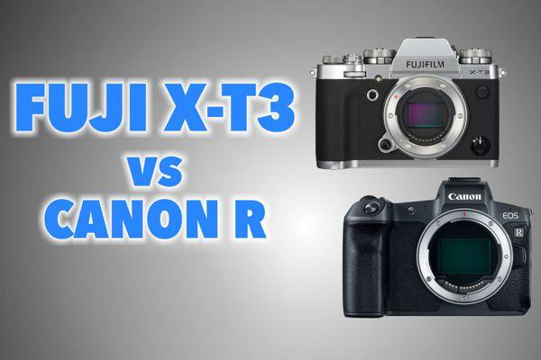 fuji x-t3 vs canon R
