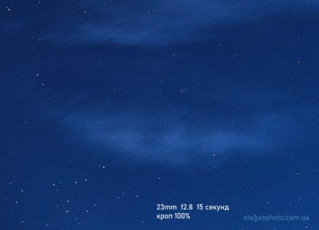 смазы звёзд при астрофотографии