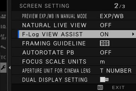F-Log_Assist Fuji x-t4