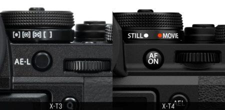 Fuji-xt3-vs-xt4 buttons