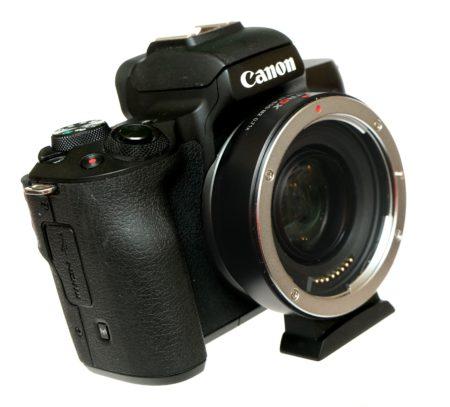 адаптер viltrox ef-eos m2 на canon m50