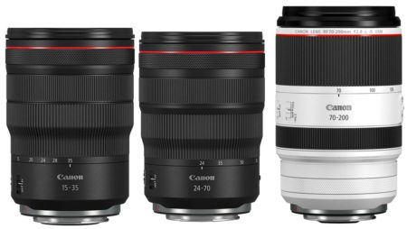 Canon rf 24-70 15-35 70-200