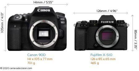 canon 90d vs fujifilm x-s10