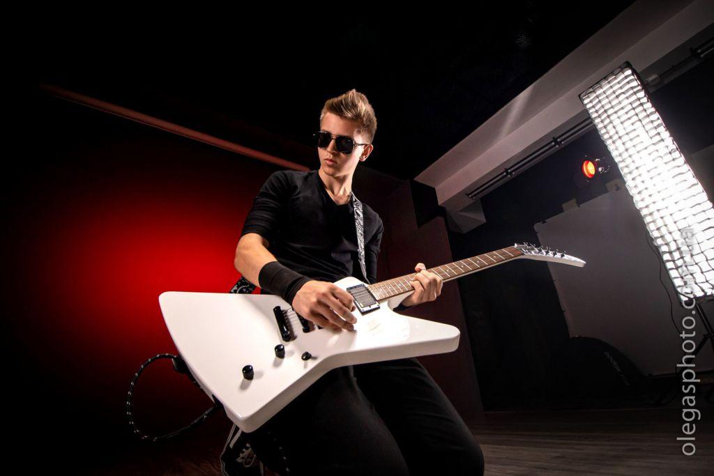 рок фотосессия для музыканта