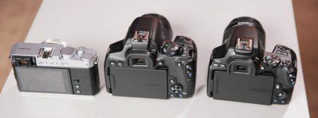 Canon 850D vs 250D vs Fujifilm X-E4 review