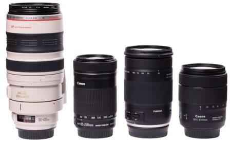 comparison of telephoto and superzoom