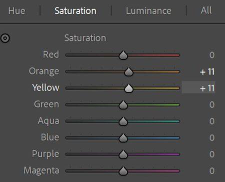 color saturation channels