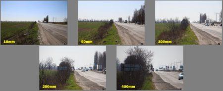 focal length range 18-400mm